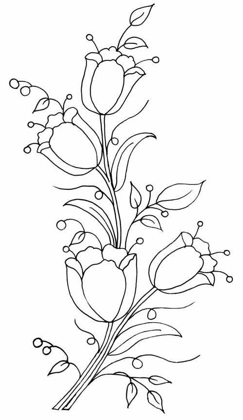 Laleler Nakis Agac Oyma 2020 Crewel Embroidery Oya Ornekleri Desenler