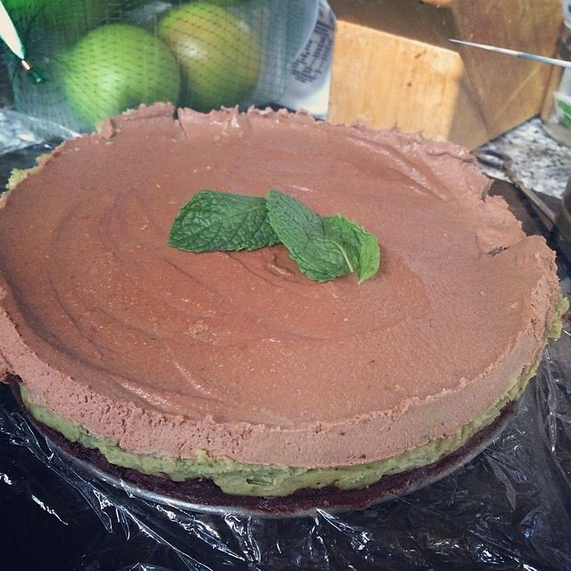My own recipe - 'after dinner mint cashew cream cheesecake'