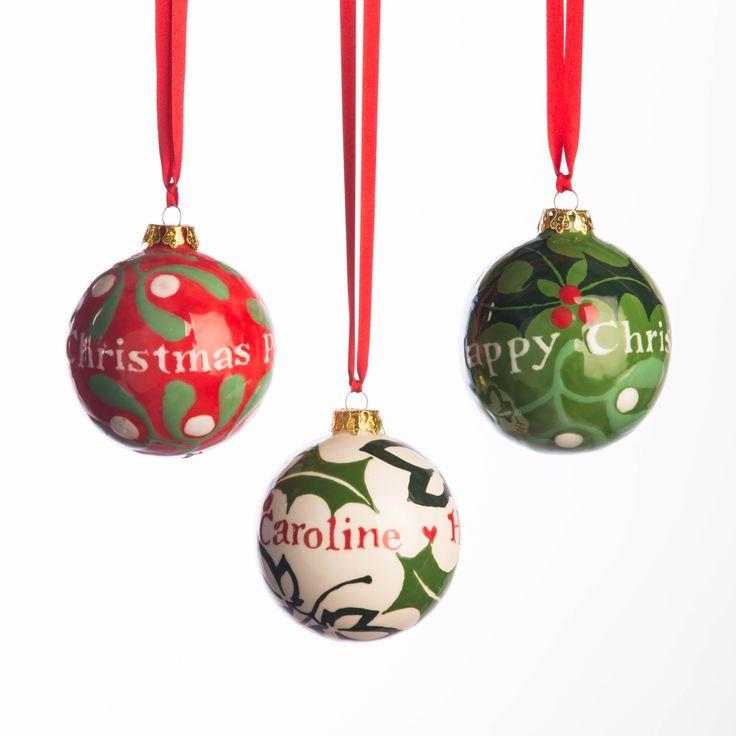 Personalised Christmas Baubles by Hannah Berridge