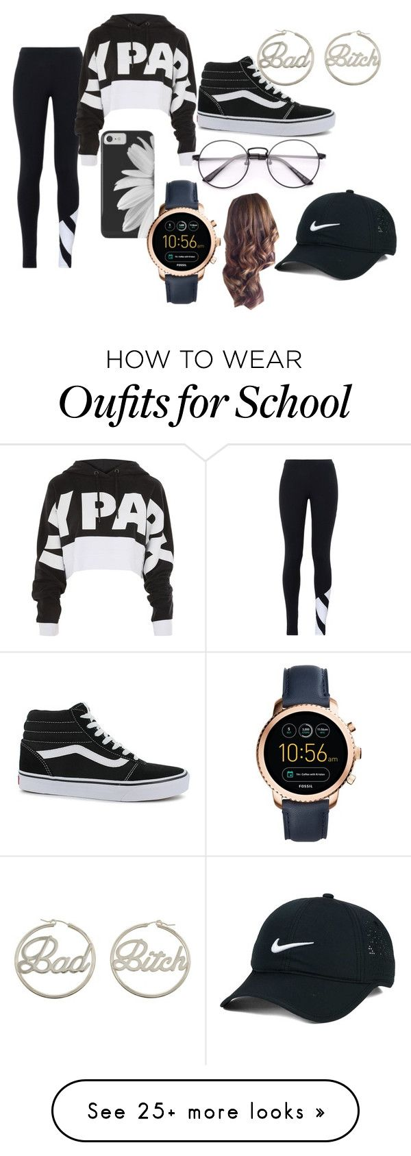 """""""gkhghbjlh"""" by life-is-strange-af on Polyvore featuring adidas Originals, Topshop, Vans, NIKE, me you and FOSSIL"""