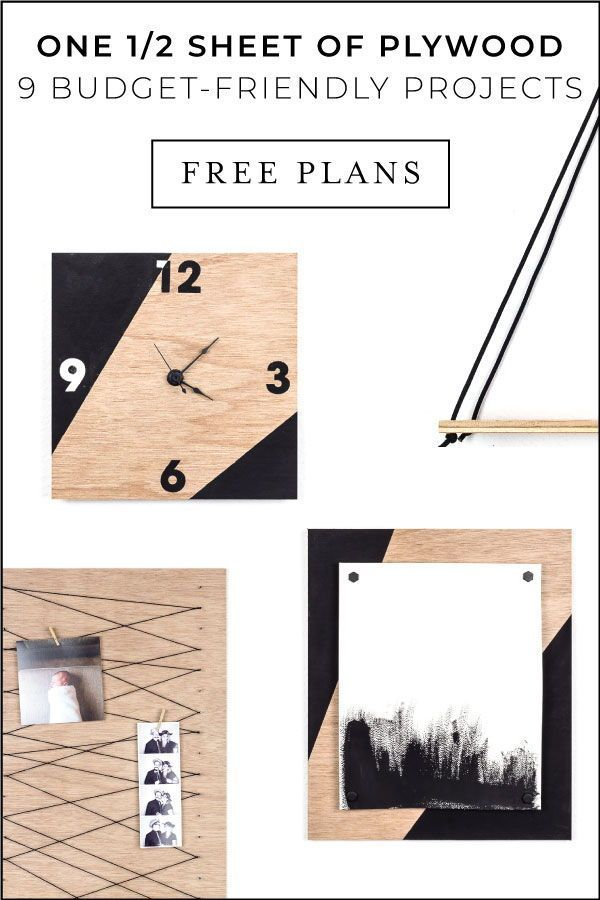 One 1 2 Sheet Of Plywood These Plans 9 Amazing Projects Beginner Woodworking Projects Plywood Sheets Diy House Projects
