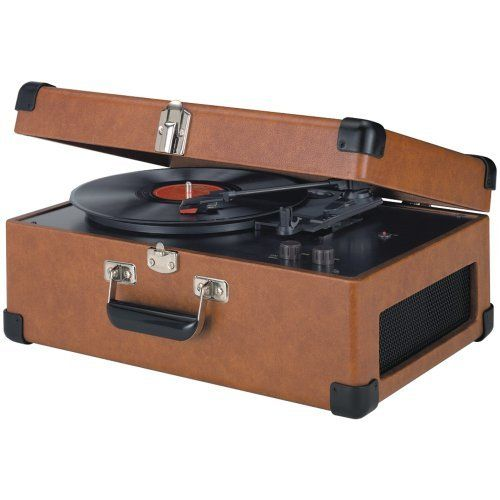 Crosley Traveler Turntable Tan by Crosley. $158.44. Suitcase styled finishing. Dynamic full range stereo speakers. Traveler Turntable. Portable. Diamond stylus needle. By the late 50's, stereo records reached a peak in the marketplace as hi-fi sound reproduction attained its largest audience to date. The portable turntable was introduced in the late 1950's and provided music lovers with a sense of independence, allowing them to easily cart their record player from one loc...