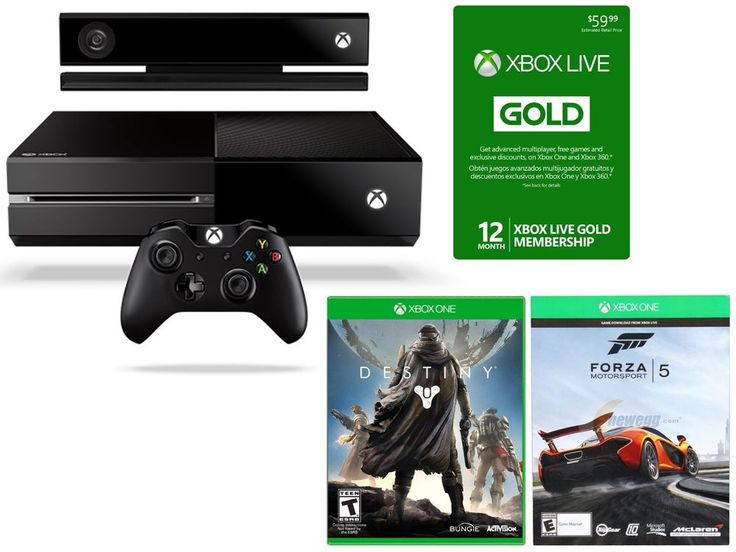 Xbox One Console w/ Kinect/ Forza (Game Code Only) /12 MONTH Live Card/ Destiny #Microsoft