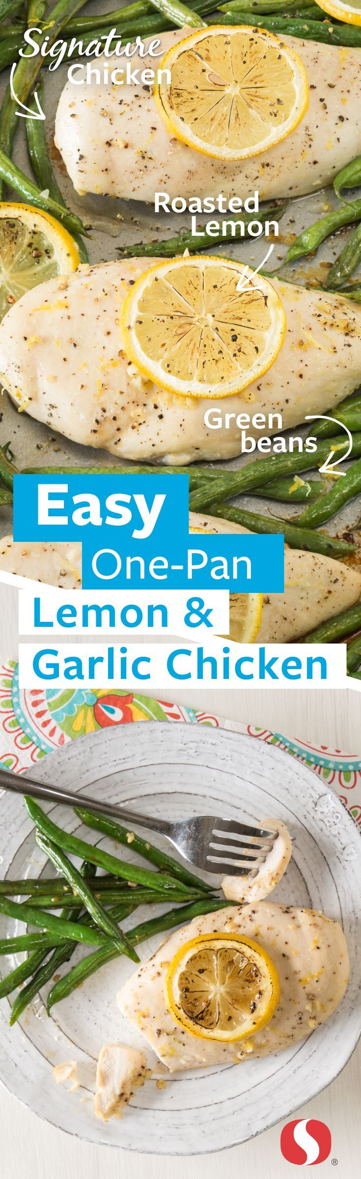 Lemon & Garlic Chicken—This one-pan twist on a classic is perfect for busy weeknights! Simplify dinner in just 40 minutes with 5 only ingredients. Featuring Signature Farms™ quality boneless, skinless chicken breasts.