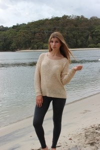 Luschous Sparkle Sweater perfect for those 'inbetween', trans-seasonal days.  Only $38 at Sunday Best!