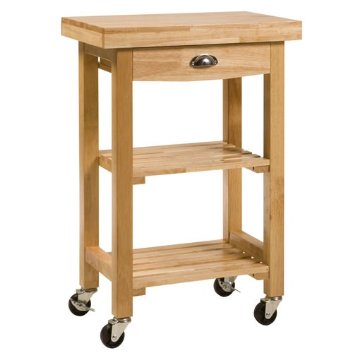 Compact Sulgrave Rubberwood Kitchen or B.B.Q. Trolley