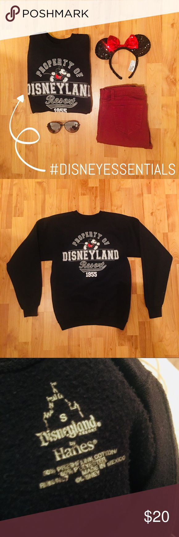 DISNEYLAND CREW NECK SWEATSHIRT Gently worn. Great condition. Bought at the Disneyland Resort in Anaheim, CA. Perfect to wear on your next adventure to the parks or keep cozy in anytime! UNISEX. Perfect for any Disney lover 💗 Disney Tops Sweatshirts & Hoodies