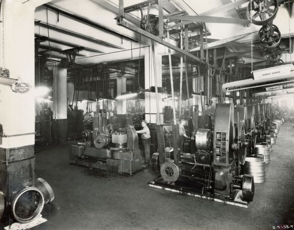 Large Machinery at Milwaukee Works   Photograph   Wisconsin Historical Society