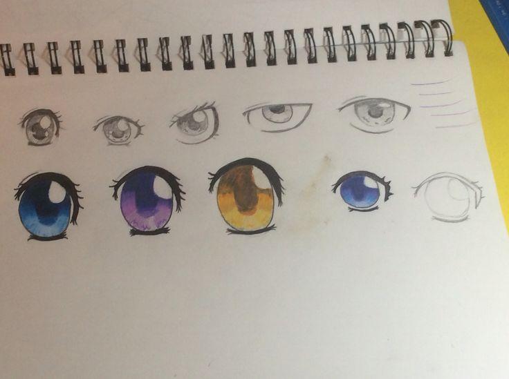 My attempts on Anime/Manga eyes ^-^
