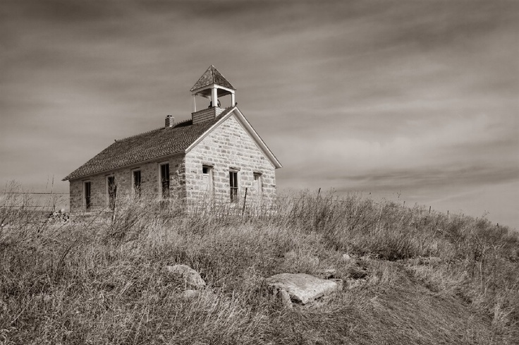 Stone School House - Wabaunsee County by David Leiker