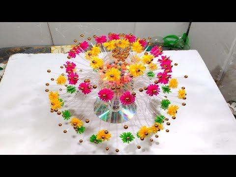 Empty Plastic Bottle Vase Making Craft, Water Bottle Recycle Flower Vase Art Decoration new Idea - YouTube