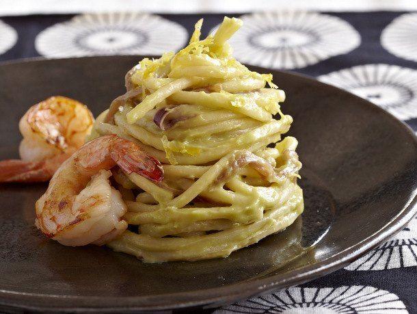Lemon-Avocado Spaghetti With Shrimp From 'Pasta Modern'   Spaghetti ...
