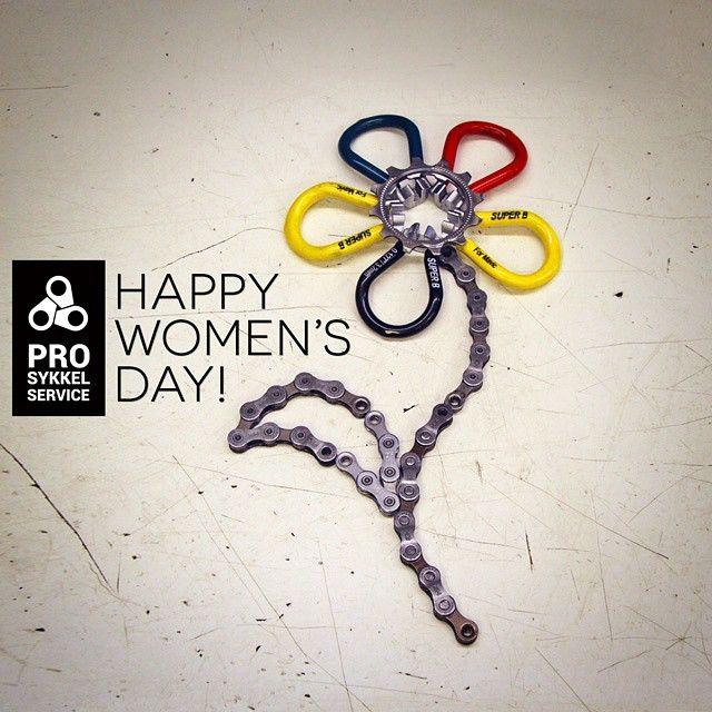 Happy International Women's Day to all Ladies from Pro Sykkelservice crew!  #womensday #makeithappen #iwd2015 #ladiesoftheworld #girlsonbikes #girlpower #realgirlsthatride #fixiegirls #kvinnedagen