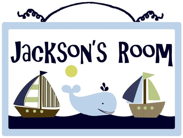 Personalized (Ahoy/Whale/Nautical) Wood Sign/Plaque. $19.99, via Etsy.