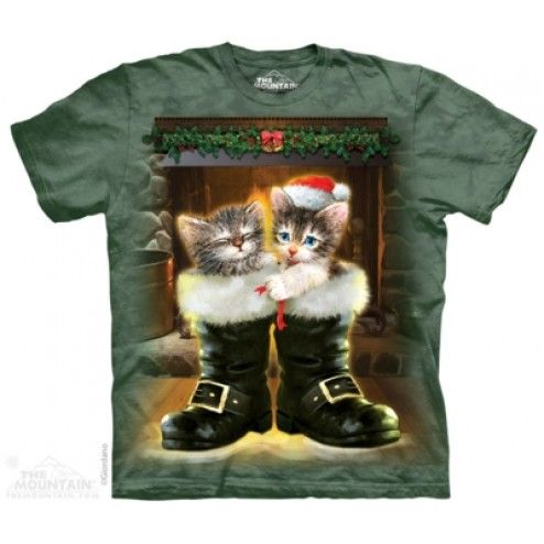 Tricou Craciun Boots & Cats