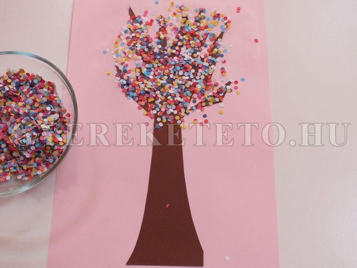 tavaszi fa konfettivel