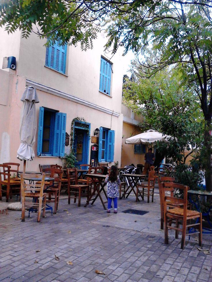 Open air coffee shop, Tritsis park, (Walking Athens, Route 30 - Tritsis Park)