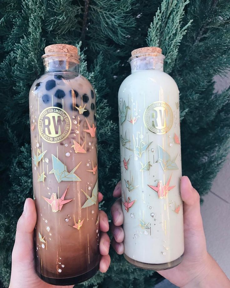 #Repost @gguintu Came back for the cute bottles!! Had to get the black milk tea for myself and an avocado smoothie for @charmanderrrawr