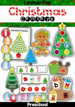 Christmas Preschool Centers. Lots of math and literacy activities to make learning engaging during the festive season!