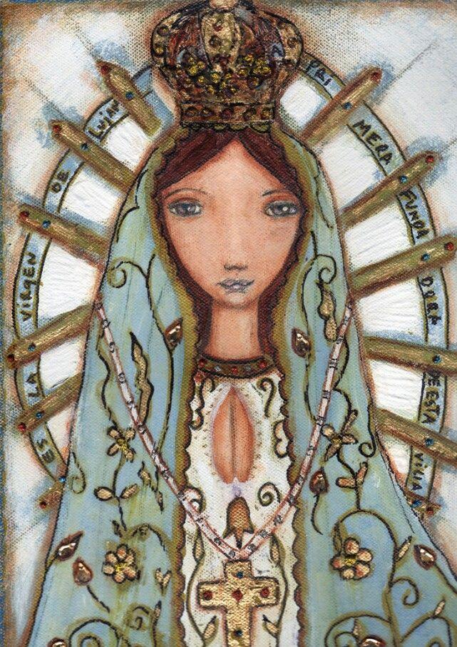 Nuestra Señora de Luján. Obra de Flor Larios.