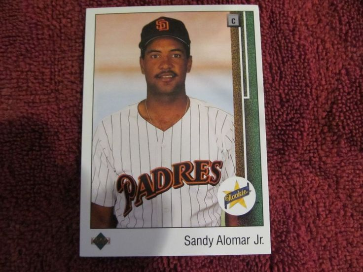 UPPER DECK BASEBALL CARD 1988 - SANDY ALOMAR JR - ROOKIE - LV PADRES - CARD#5   #LASVEGASPADRES