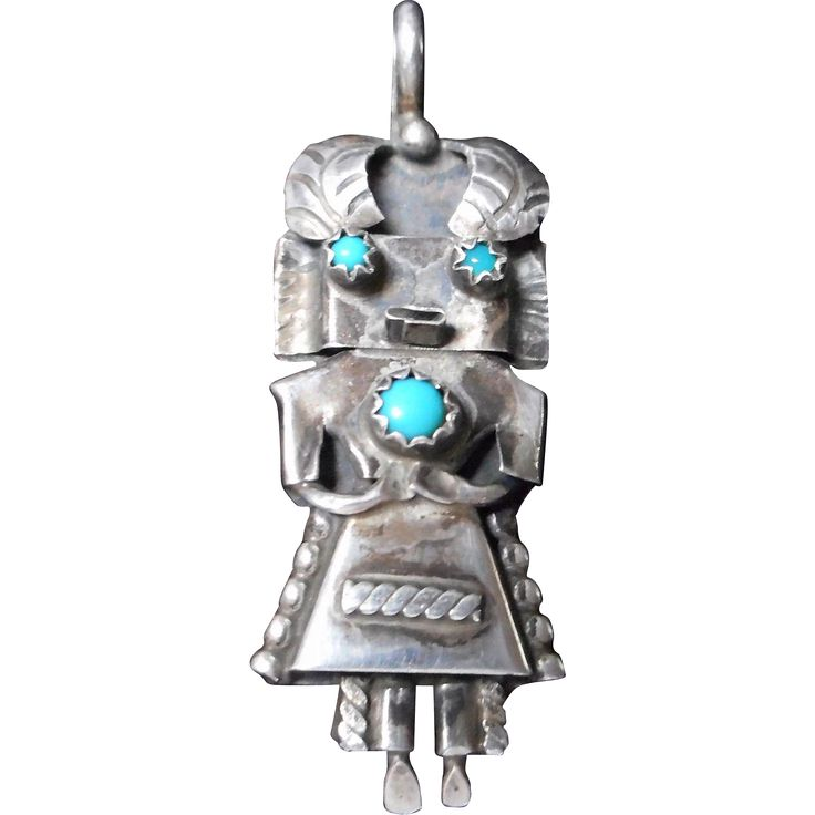 Vintage Signed Sterling Aztec Pendant