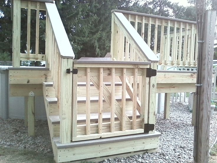 Deck Gates Ideas | Pressure treated wood decking with composite trex board Gibbstown, NJ