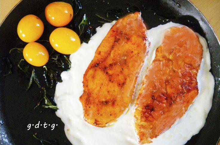 Το Ελληνικό Χρέος στη Γαστρονομία: Στήθος κοτόπουλου με μους γιαουρτιού και κατίκι, Δ...