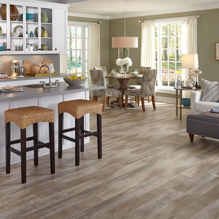 Inspired by salt-salvaged lumber from an old shipwreck, Adura® Max Seaport is an oak look that appears naturally worn by the elements with decades of weathered patina, aggressive graining and cross-cut texturing that's only found in reclaimed wood from the sea
