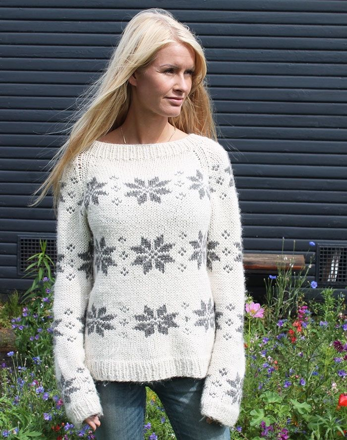 isblomst sweater  i eco alpaca