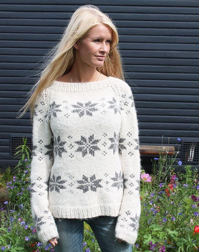 isblomst sweater  i eco alpaca