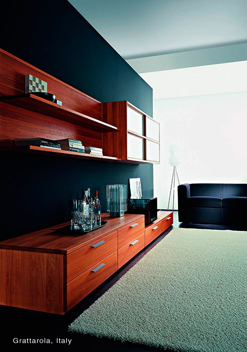 Lyptus Hardwood Flooring Part - 41: Lyptus Hardwood Cabinetry In A Grattarola, Italy, Home.