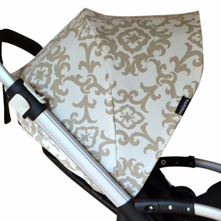 Beige Damask Hood for Bugaboo Bee Plus/ Bee3