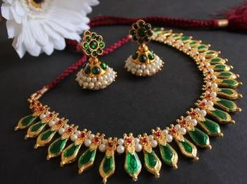 BEAUTIFUL KERALA STYLE PALAKKA NECKLACE SET