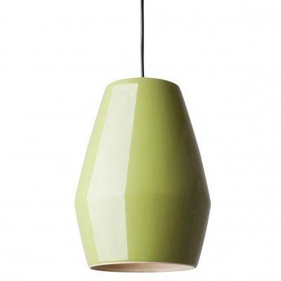 Lampe Suspension Bell Vert en Porcelaine - Lili's