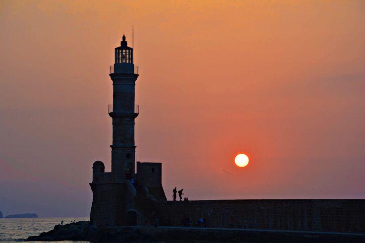 It's like a fairy tale! #Chania #Greece #Sunset