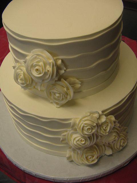 Freeport bakery cake design.  Minus flowers, plus buttons & gradation