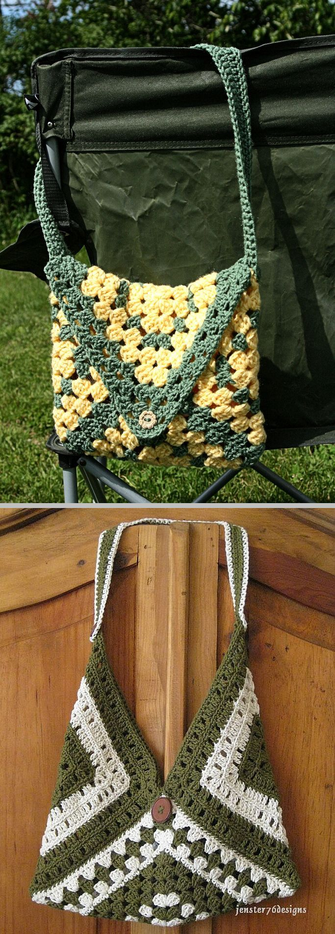 Get Your Granny On bag, free pattern by Valerie Whitten   . . . .   ღTrish W ~ http://www.pinterest.com/trishw/  . . . .   #crochet #purse #tote