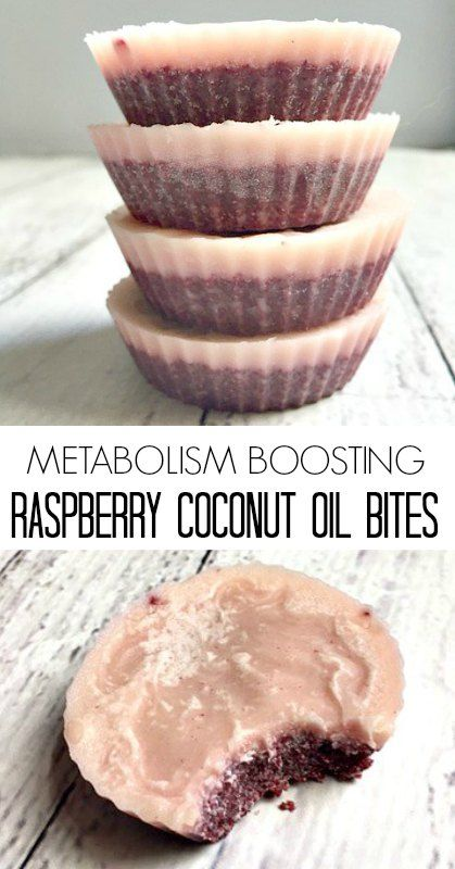 Metabolism Boosting Raspberry Coconut Oil Bites - these are a healthy treat that improve gut function and boost energy too!