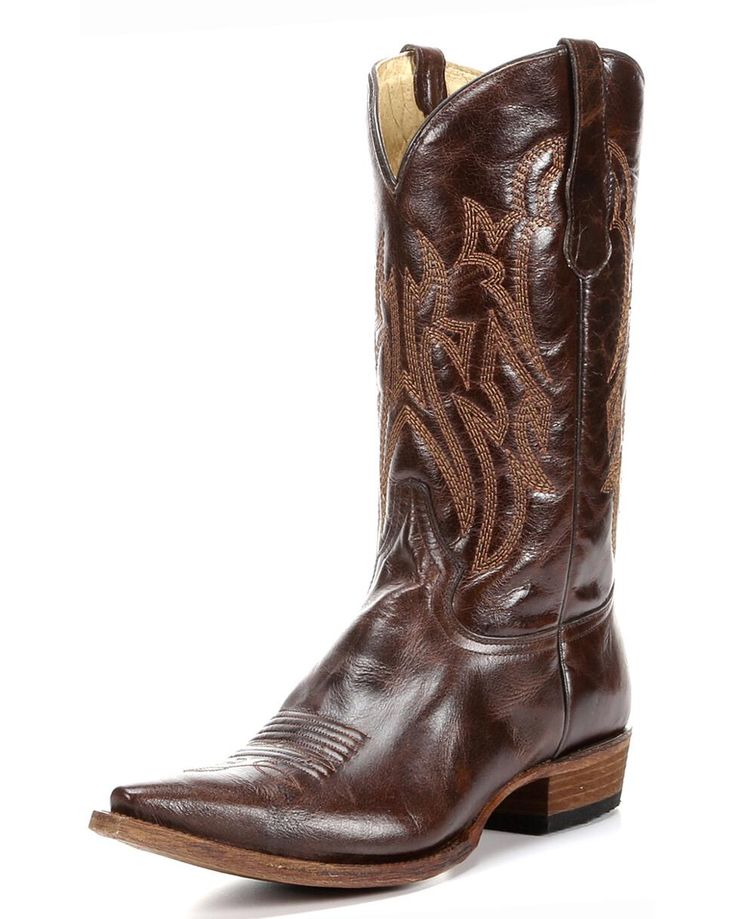 For stylish looking cowboy footwear, these Men's Circle G Basic Shine Brown  Boots, designed