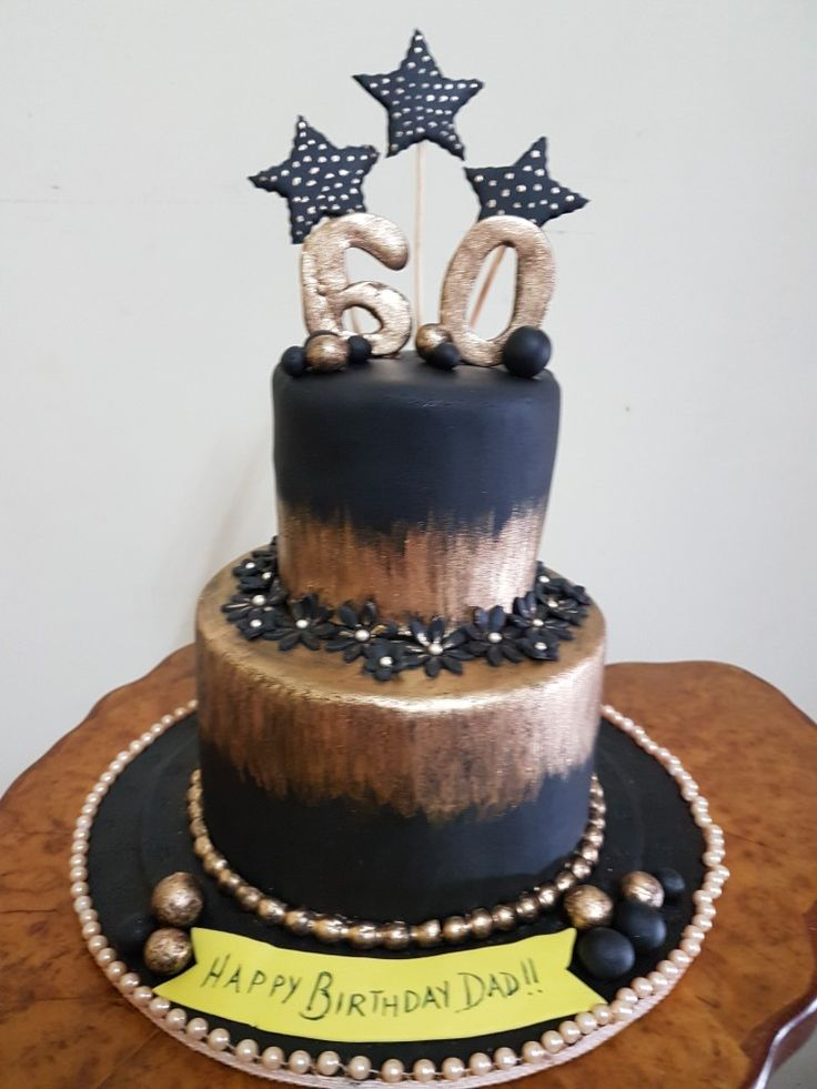 Salted caramel two tier cake for a 60th birthday party for a fear dad !!!!!