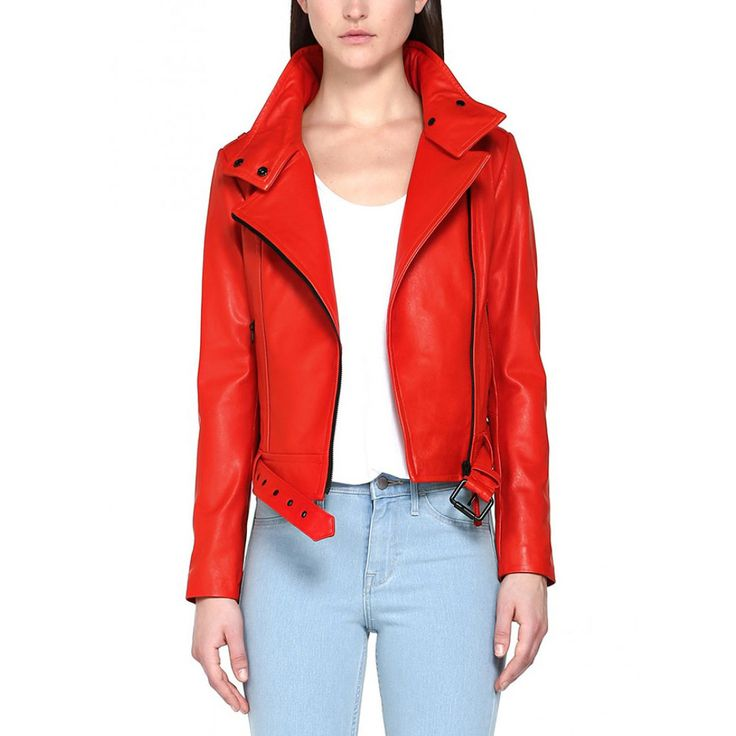 Treat Yourself Friday: A Fire-Engine-Red Leather Jacket