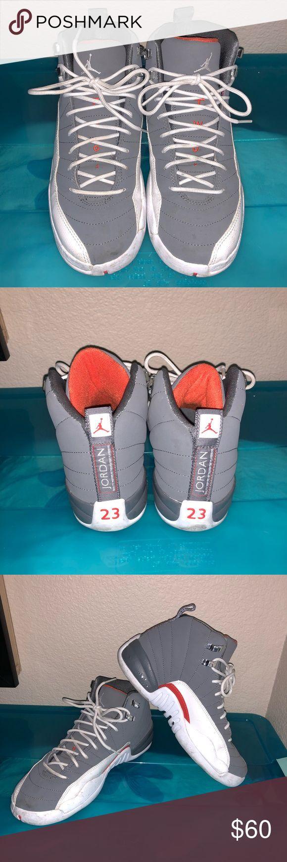 "Retro Jordan 12s Size 6.5Y Retro Jordan 12s ""Cool Grey"" Size 6.5Y (8W). Used. White leather/ cool grey suede. Air Jordan Shoes Athletic Shoes"