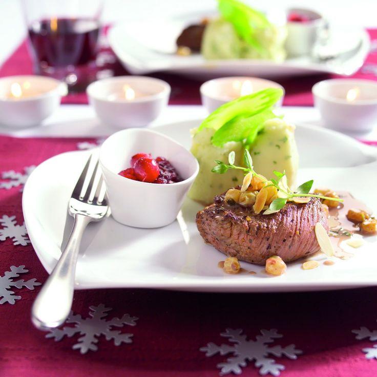 RECEPT (Herten)biefstuk met amandelroomsaus - Boodschappen