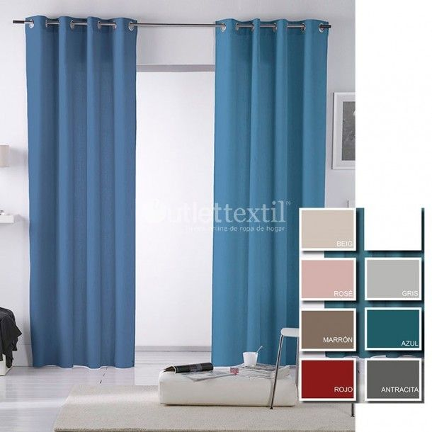 Cortina Confeccionada RITA Fundeco. Si necesitas variedad de colores en cortinas confeccionadas para tu hogar, acabas de dar con las cortinas perfectas. En tono liso y dsponibles en 8 colores. No se puede pedir más.
