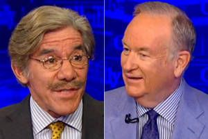 """WATCH: Geraldo Rivera and Bill O'Reilly spar over Trump's """"borderline treasonous"""" comments about Hillary and Bill Clinton"""