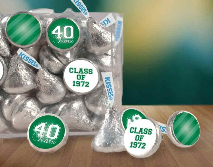 Personalized Stickers for KISSES Candy - Affordable Class Reunion Favors #schoolreunion