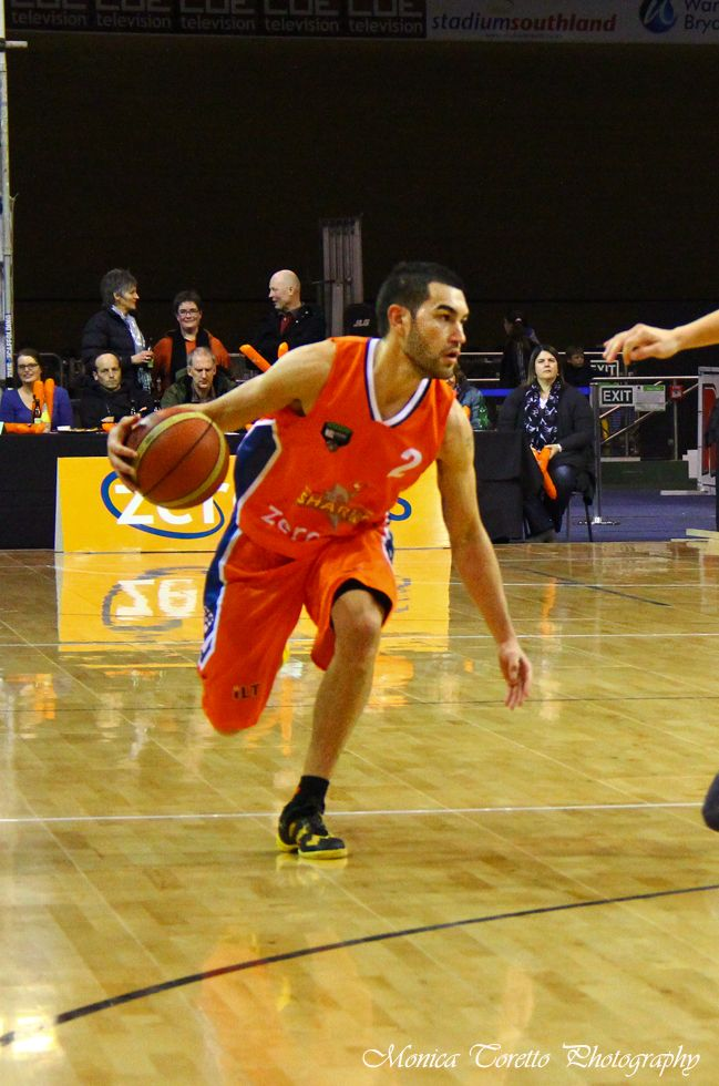 Southland Sharks' Luke Martin on the ball against the Otago Nuggets on Friday night in Invercargill, June 21, 2013. Southland Sharks went on to win 115 - 67 !!