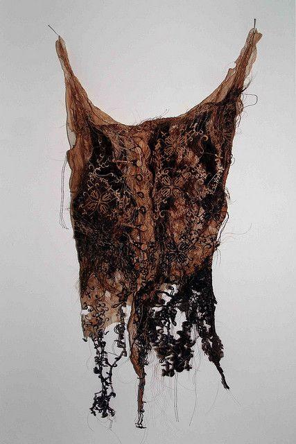 Louise Richardson  Binding, mixed media, hair