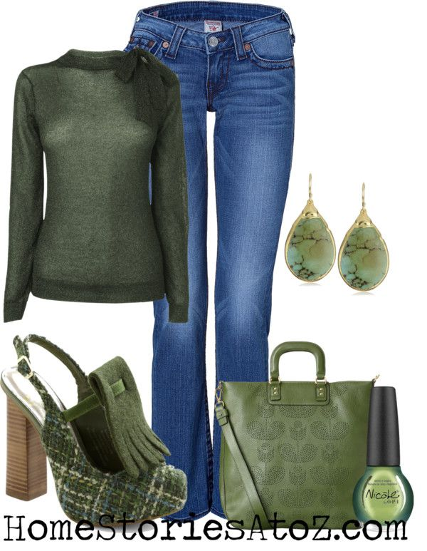 find shoes for my green sweater and jeans